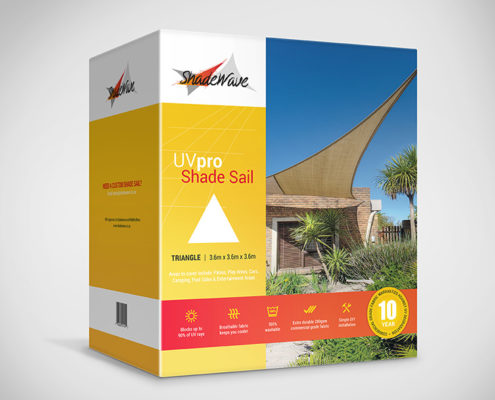 DIY Shade sail triangle 3.6x3.6x3.6