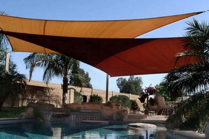 Pool shade sails