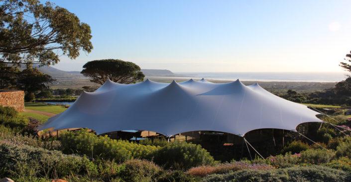 Outdoor waterproof stretch tent