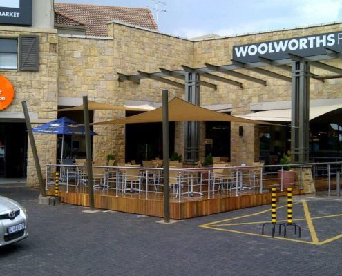 Woolworths Coffee Junction shade sails