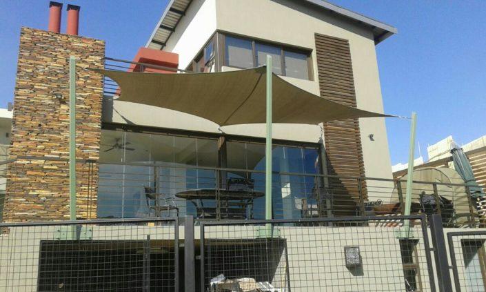 Custom balcony shade sail