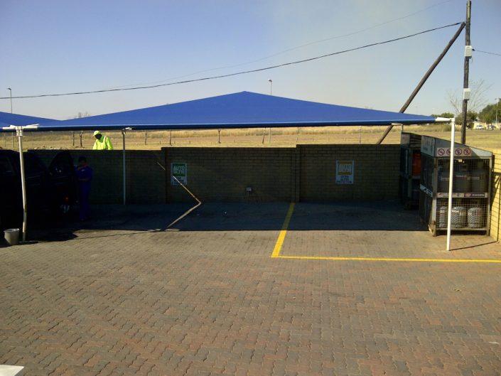 Engen garage car wash shade ports