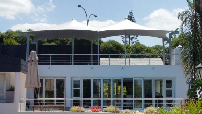 Roof top terrace waterproof stretch tent