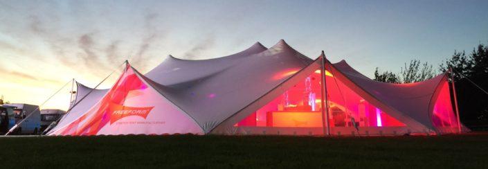 Waterproof stretch tent