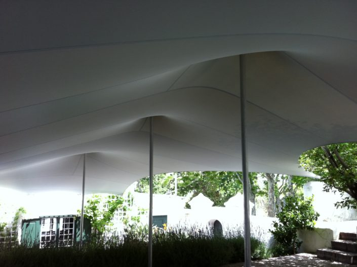Waterproof stretch tent venue cover